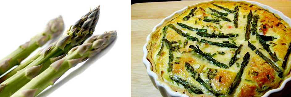 Asparagus and Crab Quiche