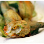 Savor - Tempura Broccoli Stuffed with Goat Cheese